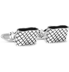 Bottega Veneta Engraved Sterling Silver-Plated Cufflinks