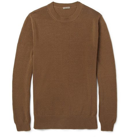 Bottega Veneta Side-Zip Crew Neck Cotton Sweater