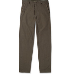 Bottega Veneta Slim-Fit Ribbed-Cotton Trousers