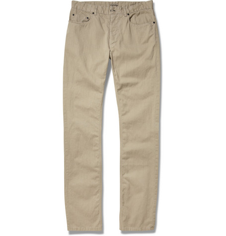 Bottega Veneta Washed Cotton and Linen-Blend Twill Trousers