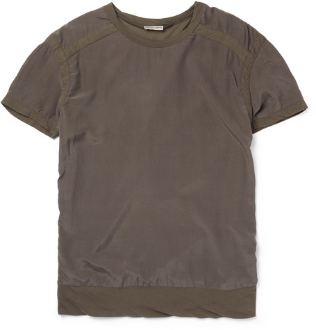 Bottega Veneta Panelled Silk and Cotton T-Shirt