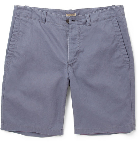 Bottega Veneta Cotton and Linen-Blend Shorts