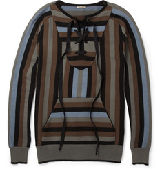 Bottega Veneta Patterned Knitted-Cotton Sweater
