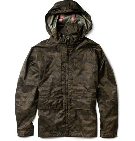Aspesi Digital Camouflage-Print Waterproof Jacket