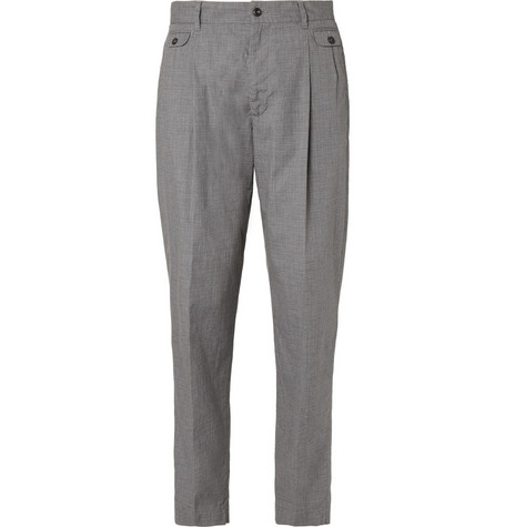 Dolce & Gabbana Double-Pleated Cotton Trousers