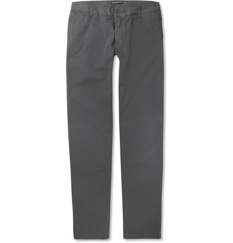 Dolce & Gabbana Gold-Fit Slim Washed Cotton Chinos