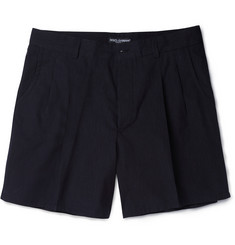 Dolce & Gabbana Fine-Stripe Cotton Shorts