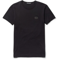 Dolce & Gabbana Chest-Plaque Cotton-Jersey T-Shirt
