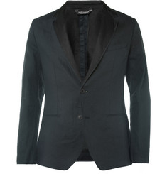 Dolce & Gabbana Unstructured Slim-Fit Silk and Linen Blazer