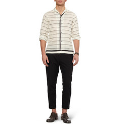 Dolce & Gabbana Striped Ramie-Blend Shirt