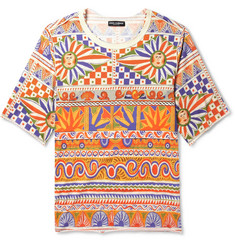 Dolce & Gabbana Printed Cotton-Jersey T-Shirt