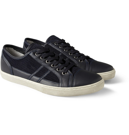 Dolce & Gabbana Mesh and Leather Sneakers