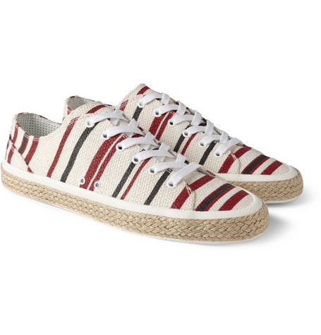 Dolce & Gabbana Striped Canvas Espadrille Sneakers