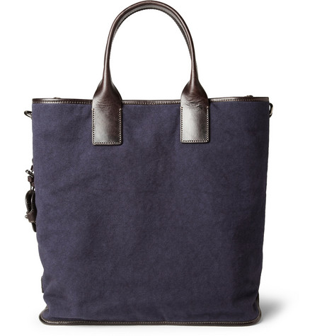 Dolce & Gabbana Leather-Trimmed Canvas Tote Bag