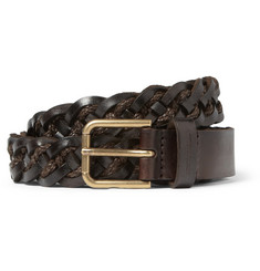 Dolce & Gabbana Woven-Leather and Fabric Belt