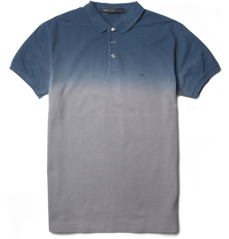 Marc by Marc Jacobs Ombre Cotton-Piqué Polo Shirt