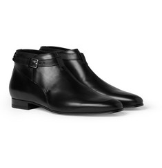 Saint Laurent Ankle-Strap Leather Boots
