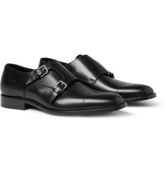 Saint Laurent Leather Double Monk-Strap Shoes