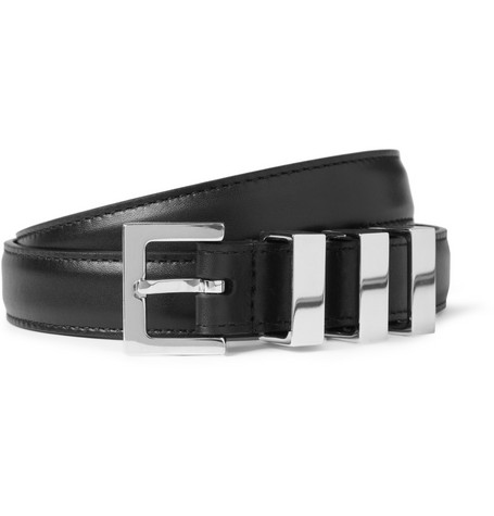 Saint Laurent Black 2cm Leather Belt