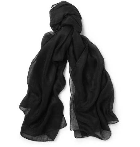 Saint Laurent Lightweight Cashmere and Silk-Blend Scarf