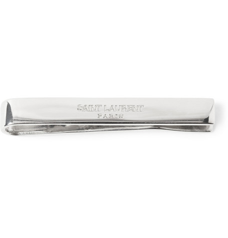 Saint Laurent Silver Tie Clip