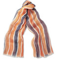 Faconnable - Striped Fine-Linen Scarf