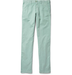 Faconnable Cotton and Linen-Blend Twill Trousers
