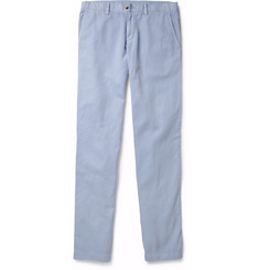 Faconnable Matelot Cotton and Linen-Blend Trousers