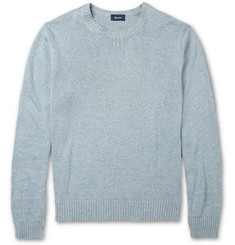Faconnable Knitted Cotton and Linen-Blend Sweater