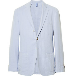 Faconnable Slim-Fit Linen and Cotton-Blend Blazer
