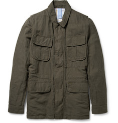 Faconnable Linen and Cotton-Blend Twill Field Jacket
