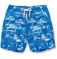 Faconnable - Mid-Length Printed Swim Shorts
