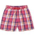 Faconnable - Mid-Length Plaid Cotton-Blend Swim Shorts