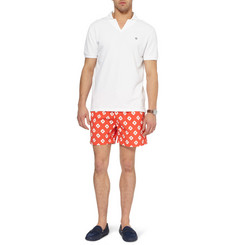 Faconnable Mid-Length Printed Swim Shorts