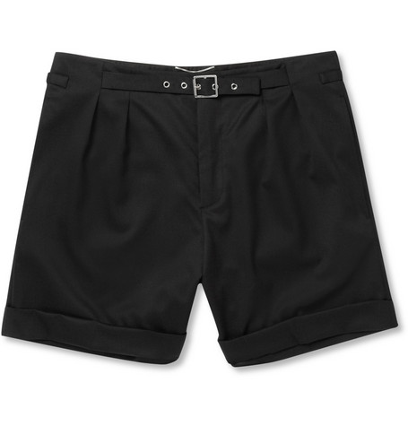 Saint Laurent Belted Wool Shorts