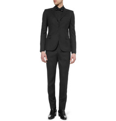 Saint Laurent Black Slim-Fit Wool Suit Trousers