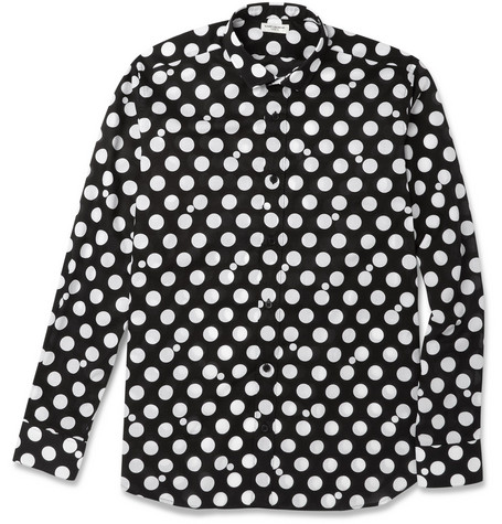 Saint Laurent Slim-Fit Polka-Dot Cotton Shirt