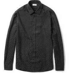 Saint Laurent Leopard-Patterned Silk Shirt