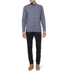 Saint Laurent Slim-Fit Dot-Print Cotton Shirt