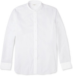 Saint Laurent Grandad-Collar Sheer Cotton Shirt