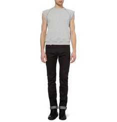 Saint Laurent Zipped Sleeveless Cotton-Jersey Sweatshirt