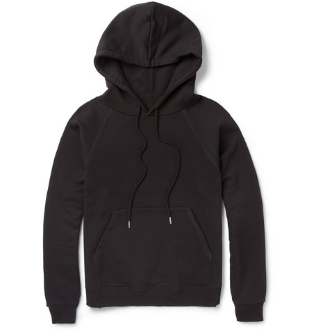 Saint Laurent Loopback-Cotton Hoodie