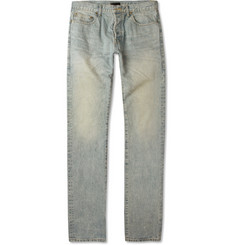Saint Laurent Slim-Fit Washed 17.5cm Hem Jeans