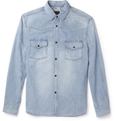 Saint Laurent Washed-Denim Shirt