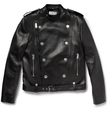 WISHLIST | Saint Laurent Perfector double-breasted leather jacket