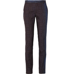 Etro Slim-Fit Printed Cotton-Poplin Trousers