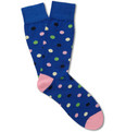 Corgi Polka Dot Cotton-Blend Socks