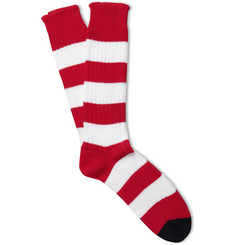 Corgi Striped Ribbed-Cotton Socks