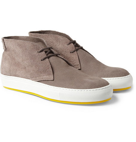Acne Studios Anton Suede and Leather Desert Boots