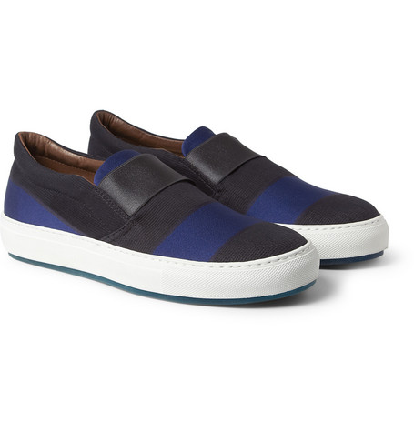 Acne Studios Hans Striped Slip-On Shoes